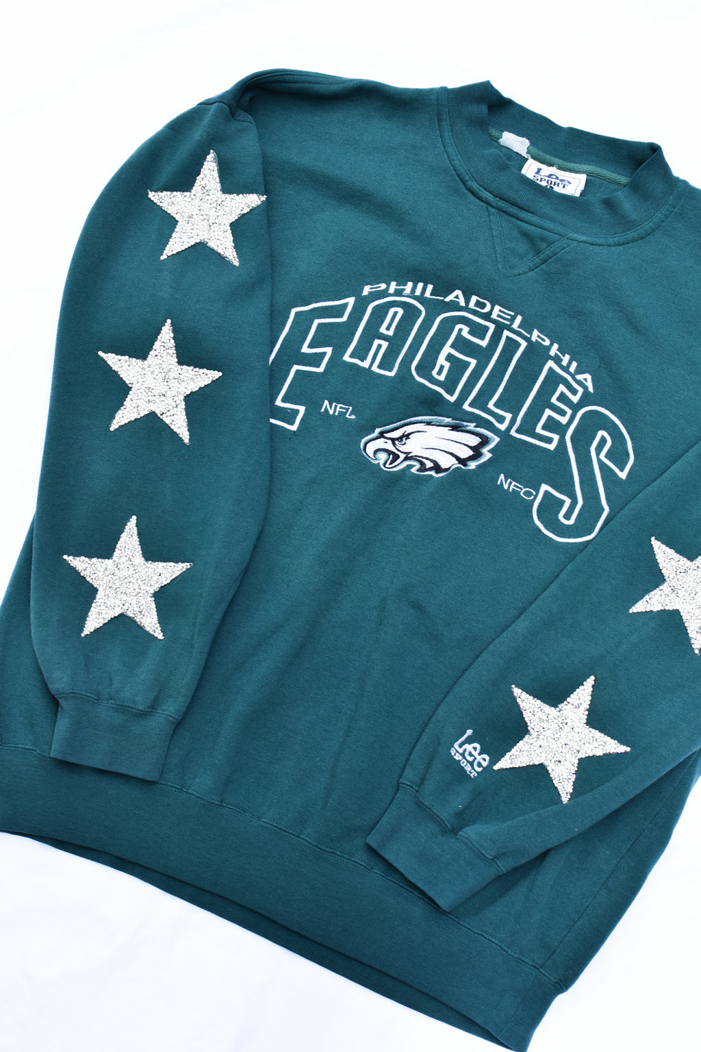 Upcycled VINTAGE Eagles Star Rhinestone Sweatshirt