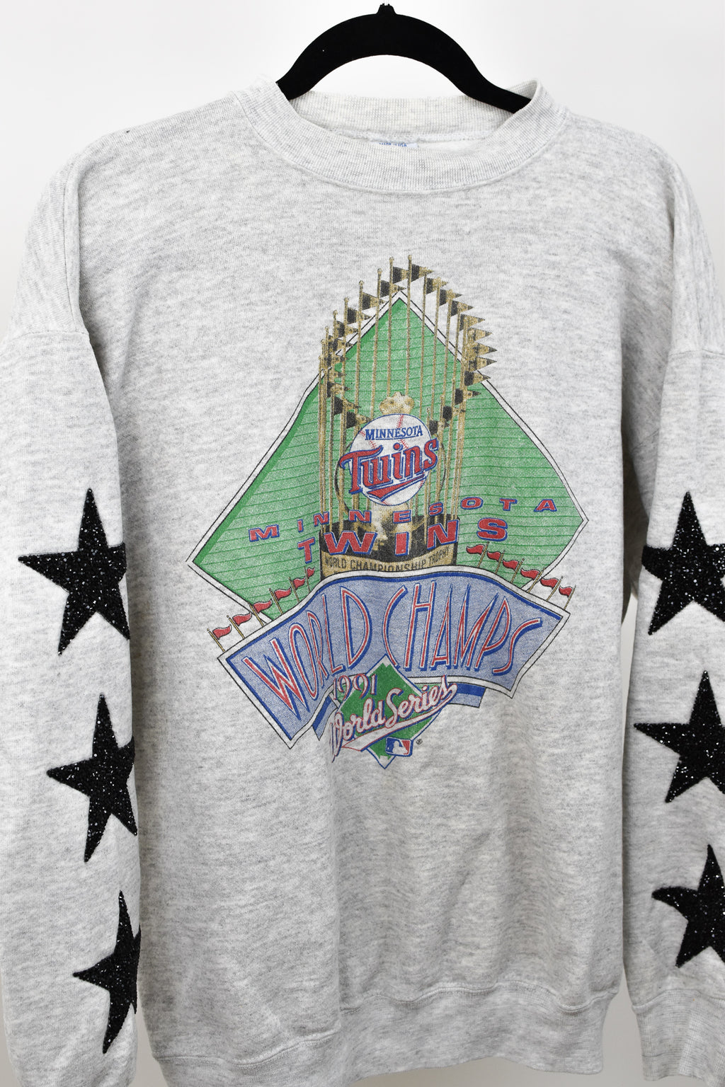 Upcycled VINTAGE Minnesota Twins Star Rhinestone Sweatshirt