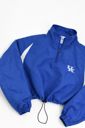 Upcycled VINTAGE University of Kentucky Windbreaker Jacket