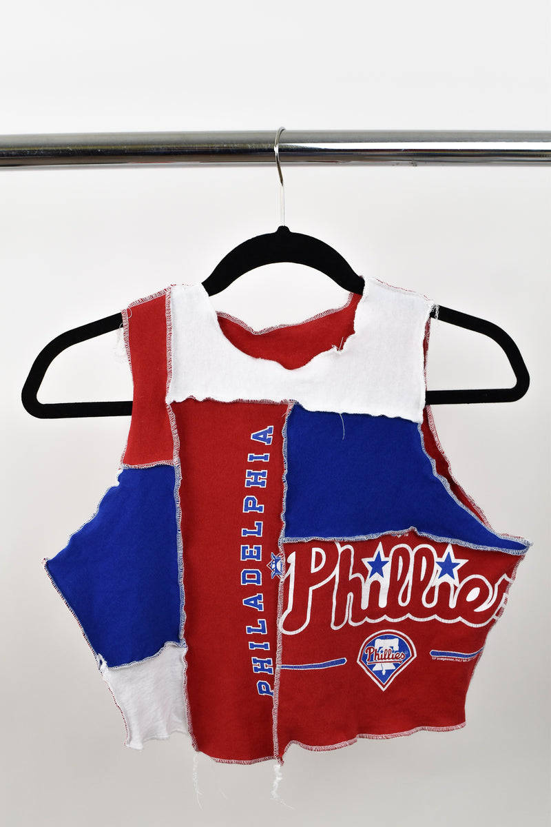 Upcycled Philadelphia Phillies Scrappy Top
