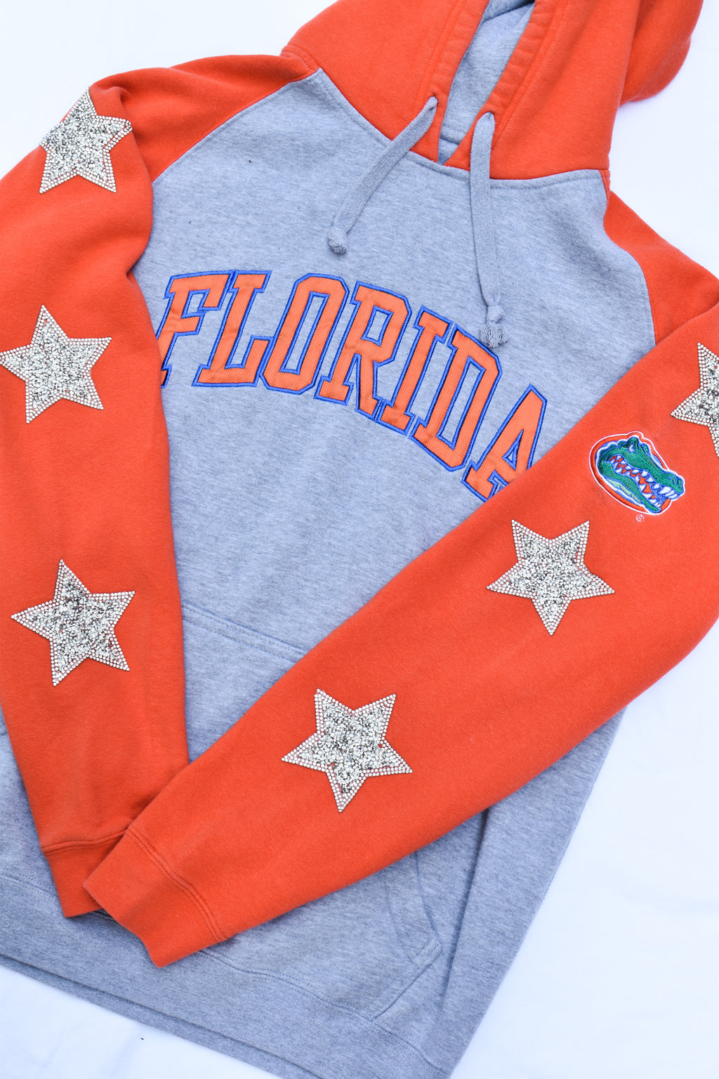 Upcycled Florida Gators Star Rhinestone Sweatshirt
