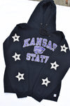 Upcycled Kansas State Star Rhinestone Sweatshirt
