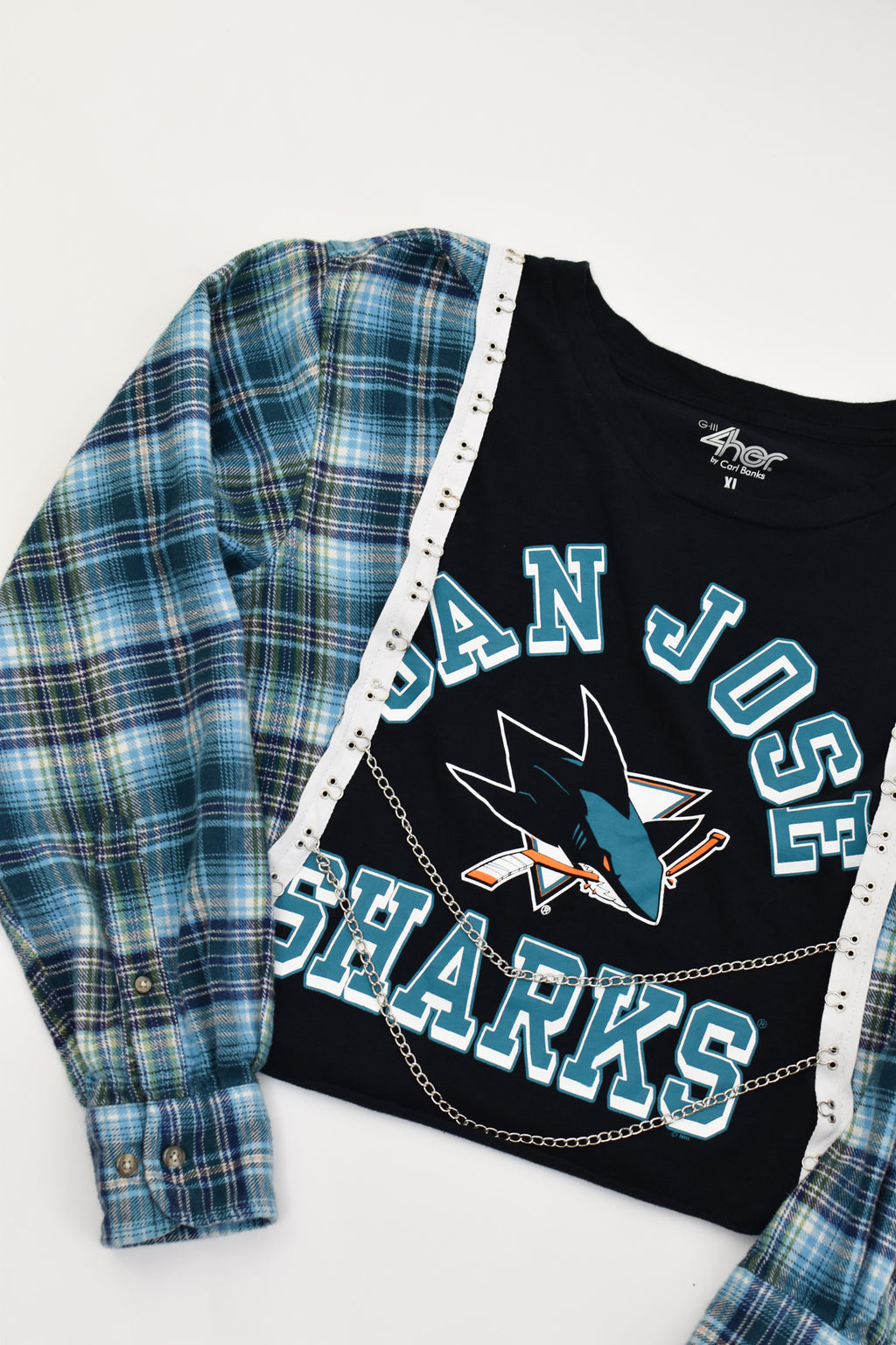 Upcycled San Jose Sharks Chain Rock Top