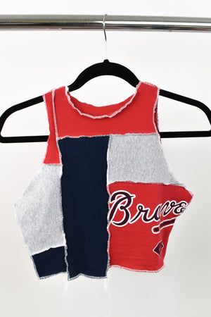 Upcycled Atlanta Braves Scrappy Top