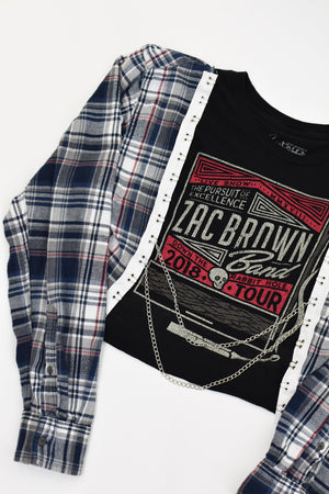 Upcycled Zac Brown Band Chain Rock Top