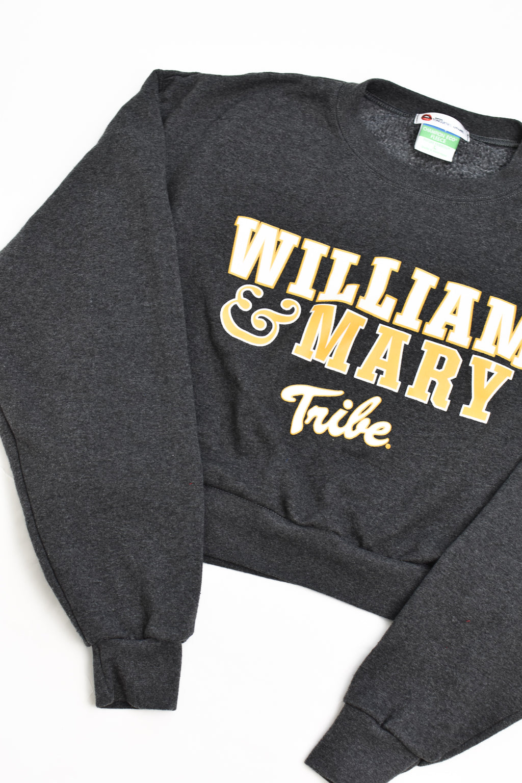 Upcycled William and Mary Cropped Sweatshirt