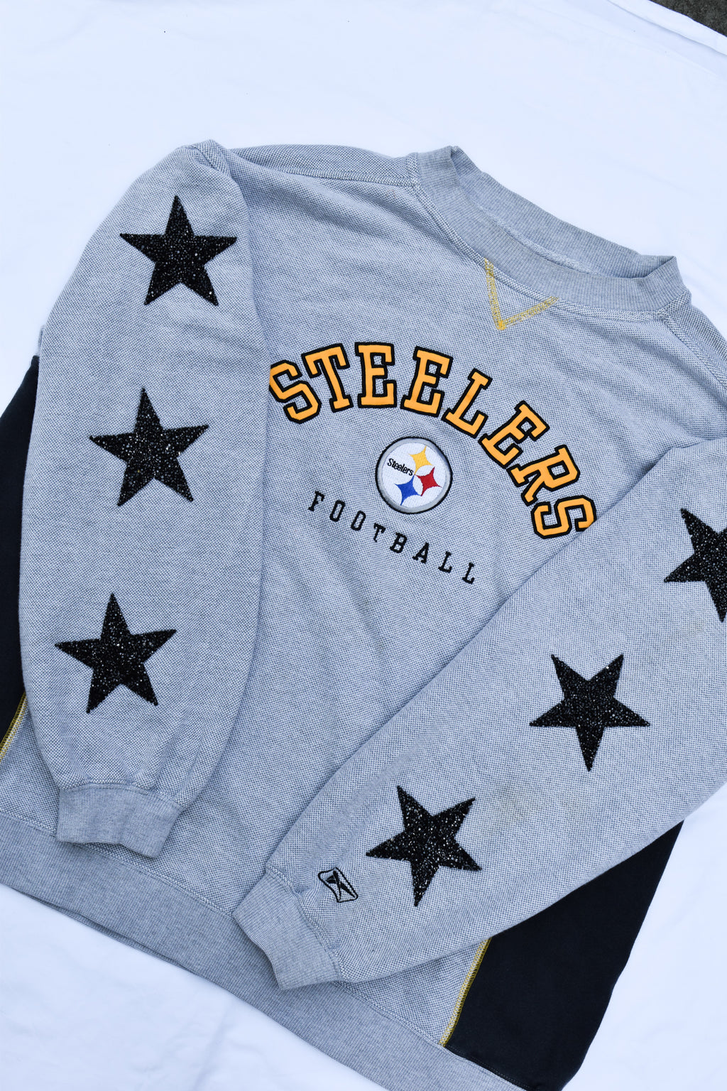 Upcycled VINTAGE Steelers Star Rhinestone Sweatshirt