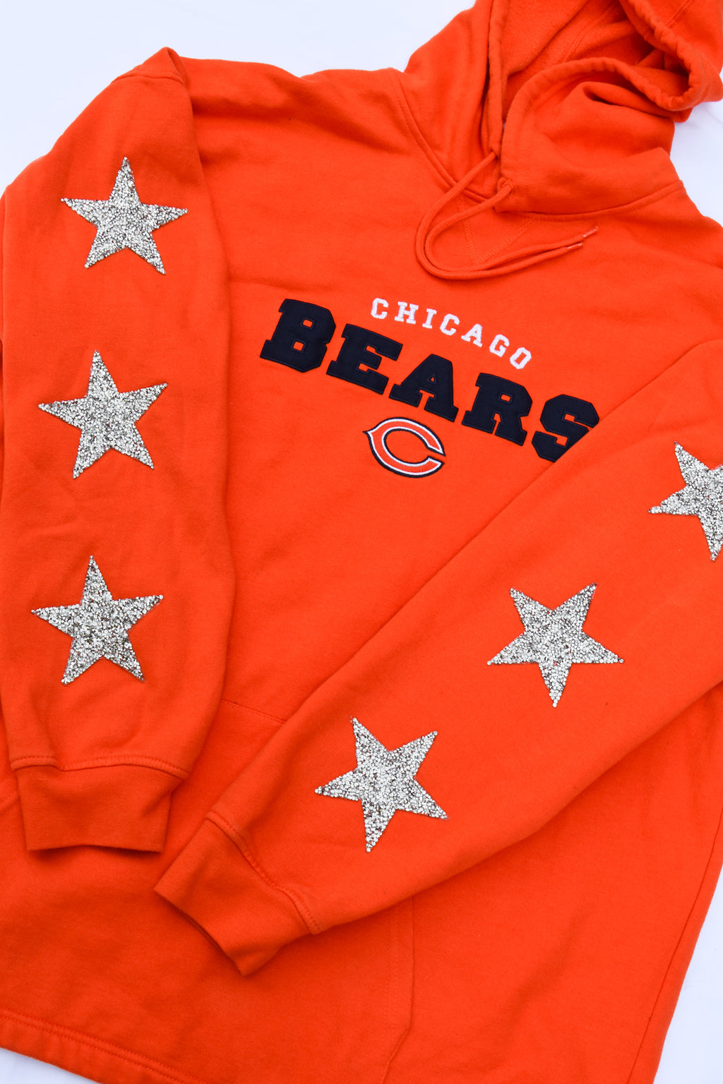 Upcycled Bears Star Rhinestone Sweatshirt