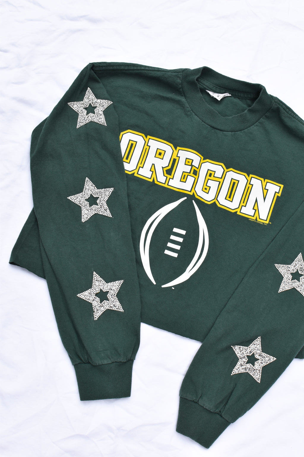 Upcycled Oregon Star Rhinestone Shirt