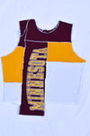 Upcycled Michigan Tech Drawstring Crop Top