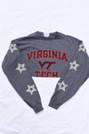 Upcycled Virginia Tech Star Rhinestone Shirt