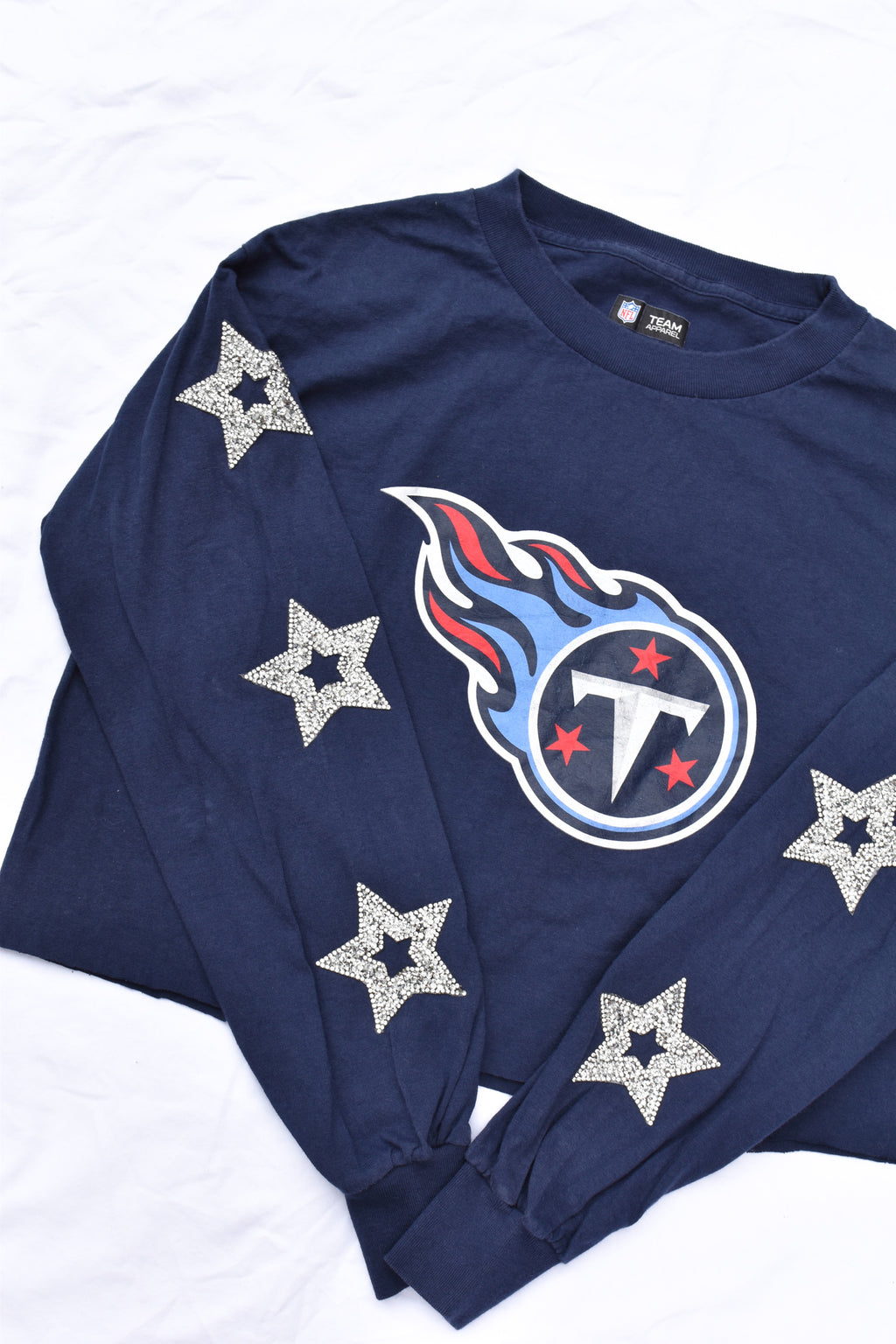 Upcycled Titans Star Rhinestone Shirt
