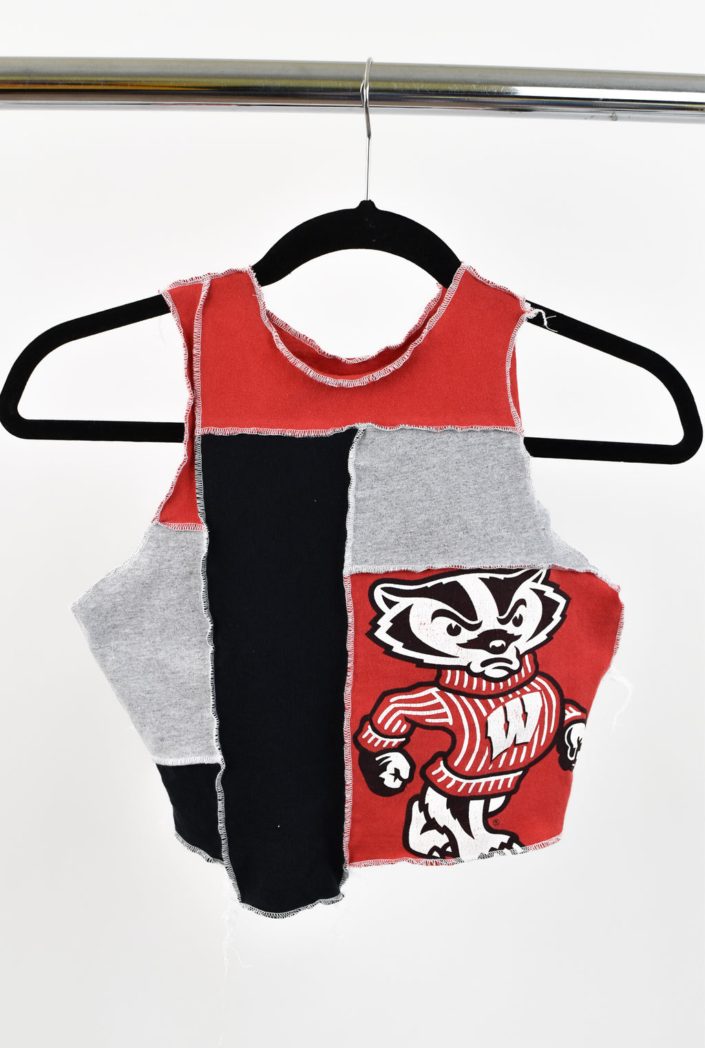 Upcycled University of Wisconsin Scrappy Top