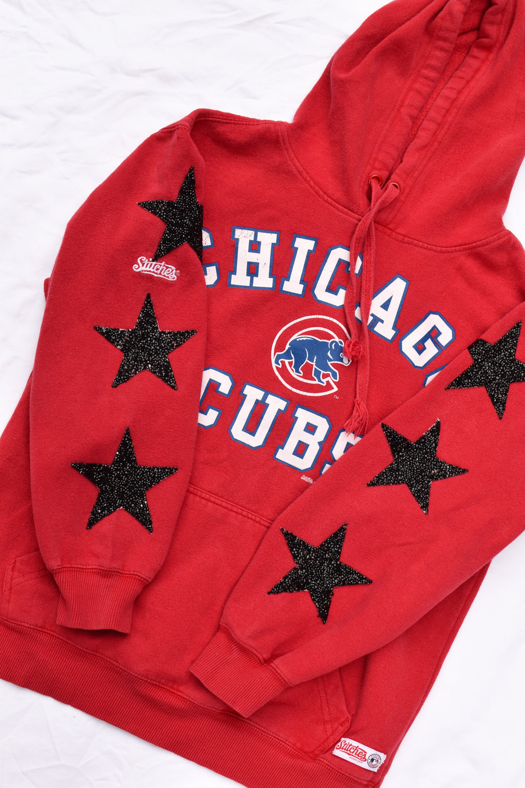 Upcycled Chicago Cubs Star Rhinestone Sweatshirt