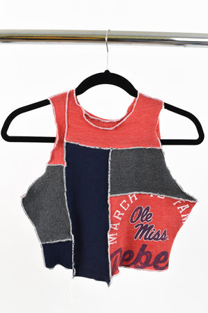 Upcycled Ole Miss Scrappy Top