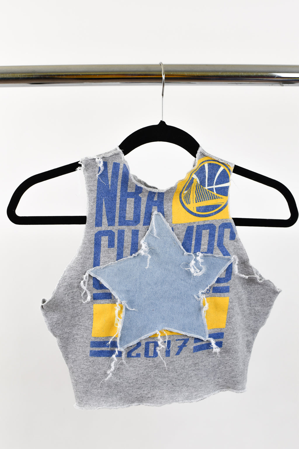 Upcycled Golden State Warriors Star Scrappy Top