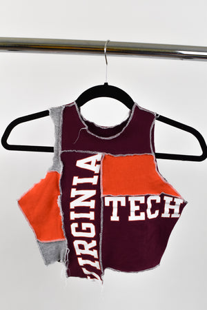Upcycled Virginia Tech Scrappy Top