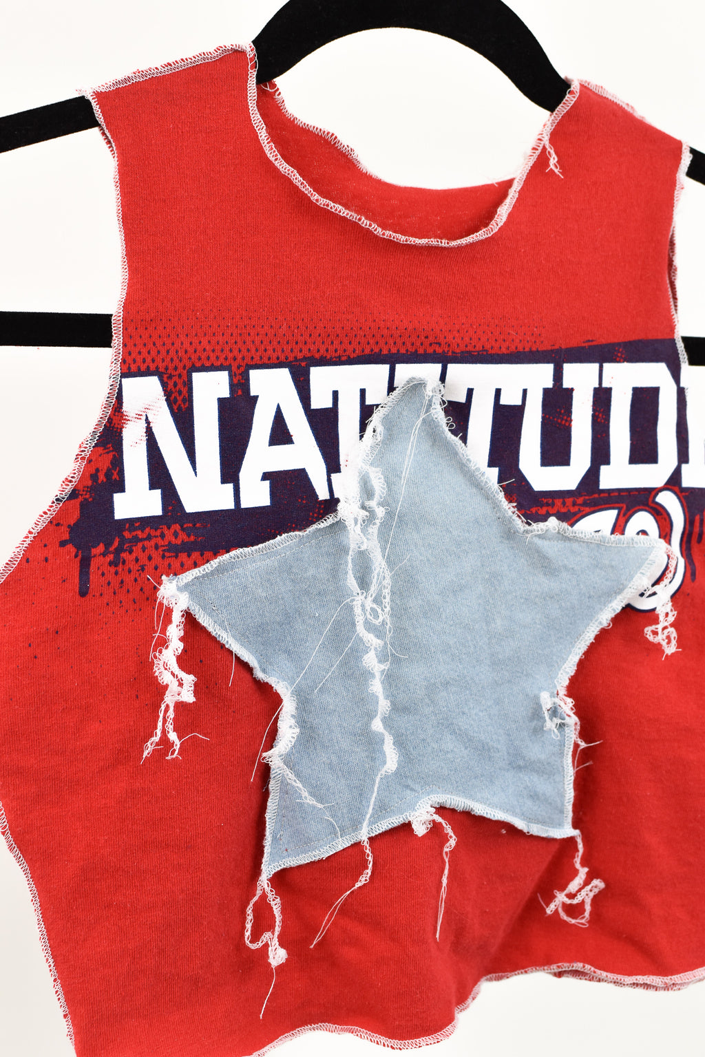 Upcycled Washington Nationals Star Scrappy Top