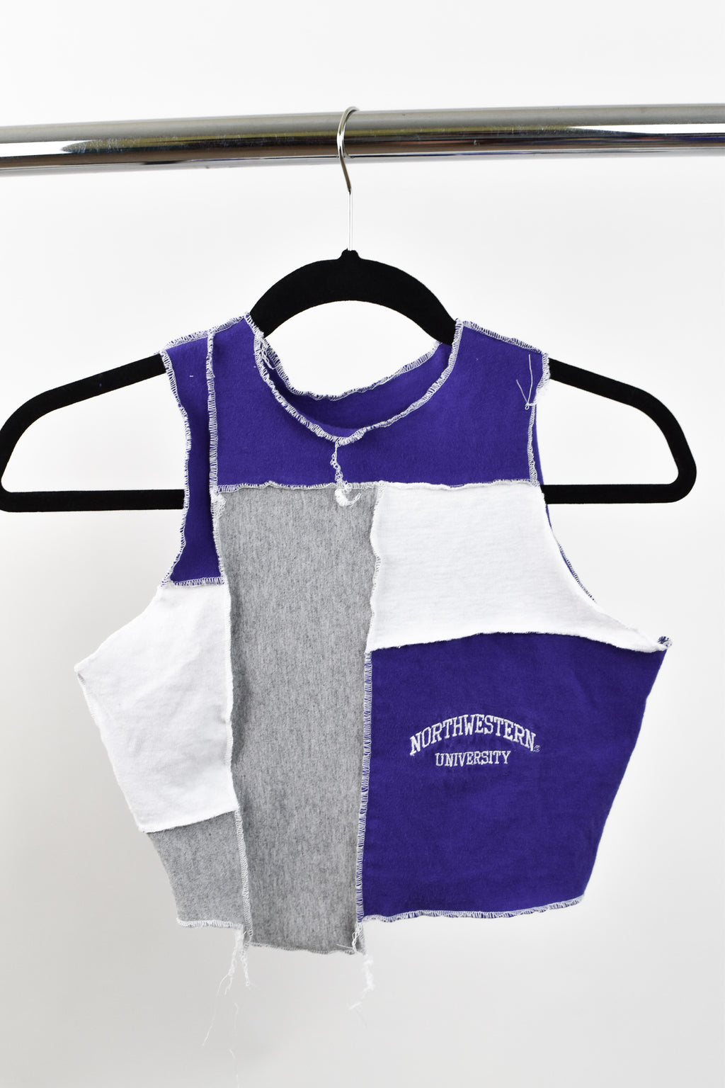 Upcycled Northwestern University Scrappy Top