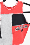 Upcycled University of Maryland Scrappy Top