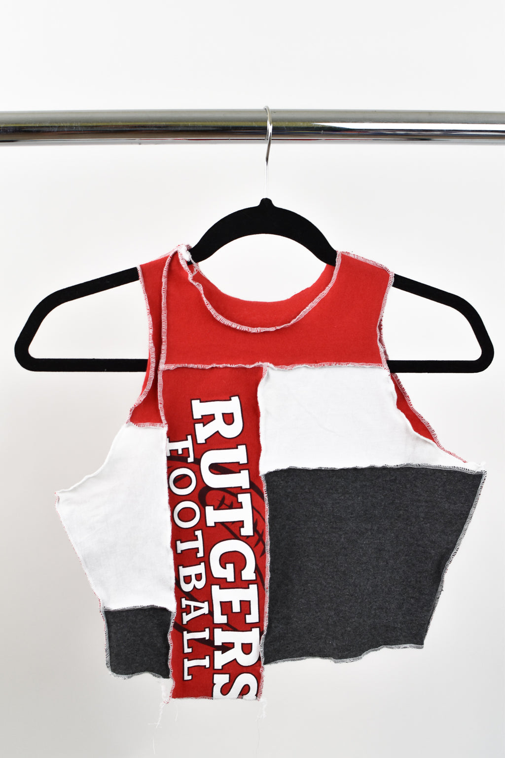 Upcycled Rutgers University Scrappy Top