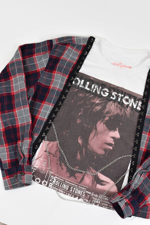 Upcycled Rolling Stones Chain Rock Top