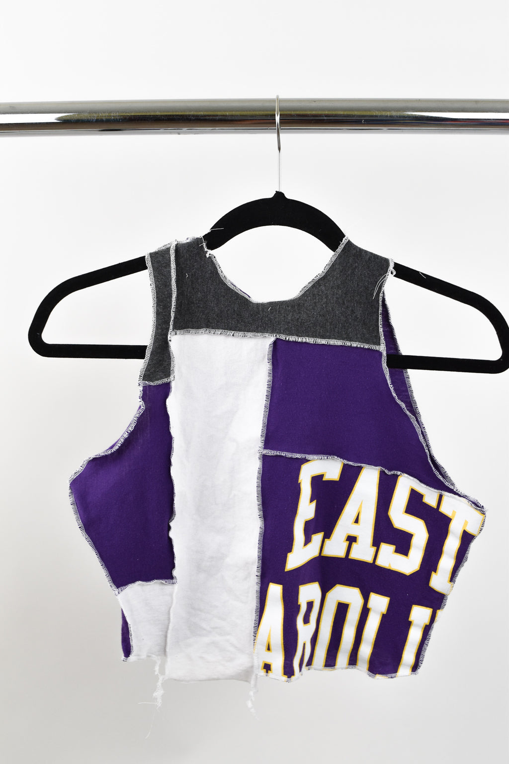 Upcycled East Carolina University Scrappy Top
