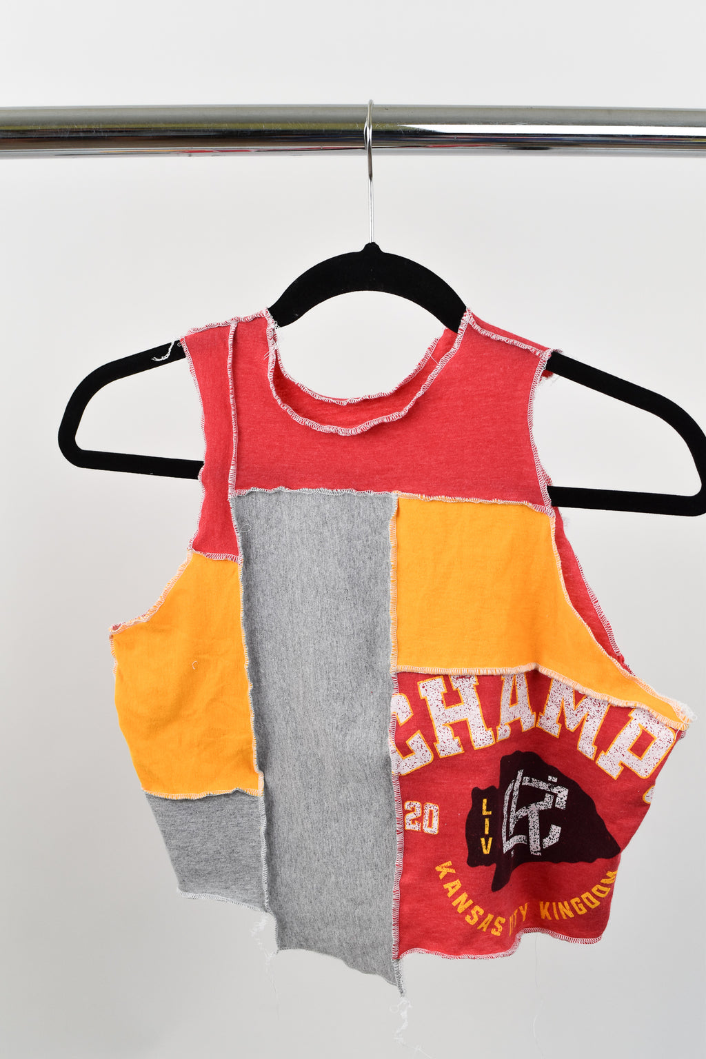 Upcycled Kansas City Chiefs Scrappy Top