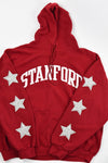 Upcycled Stanford Star Rhinestone Sweatshirt