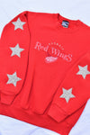 Upcycled VINTAGE Detroit Red Wings Star Rhinestone Sweatshirt
