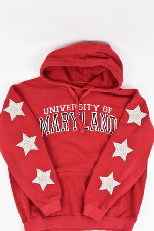 Upcycled VINTAGE Maryland Star Rhinestone Sweatshirt