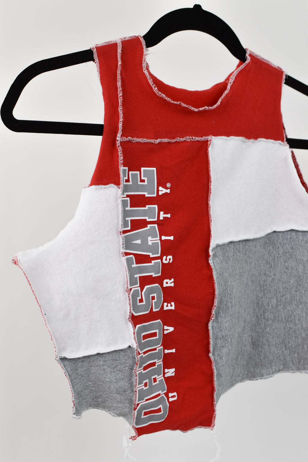 Upcycled Ohio State Scrappy Top