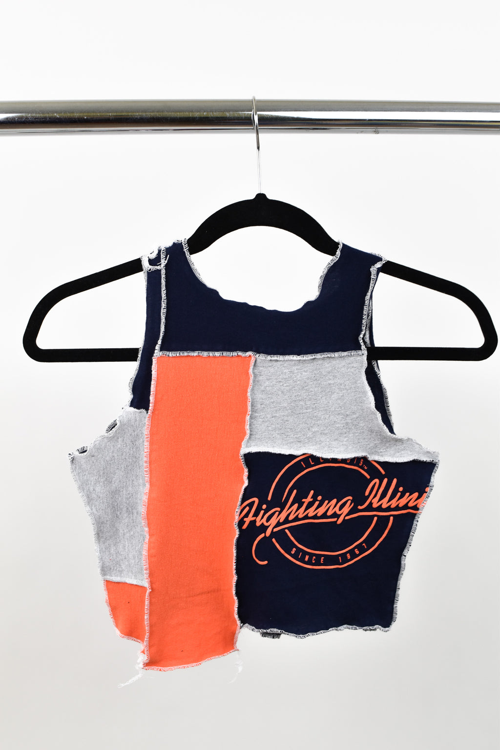 Upcycled University of Illinois Scrappy Top