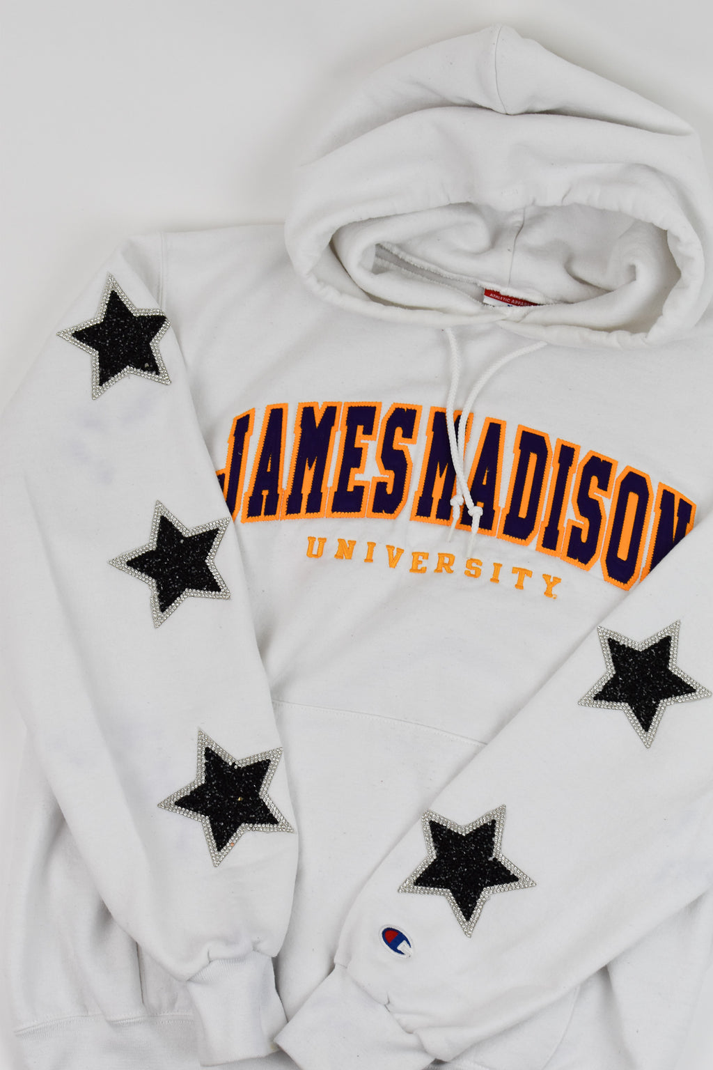 Upcycled James Madison Star Rhinestone Sweatshirt
