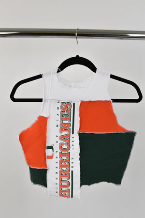 Upcycled University of Miami Scrappy Top