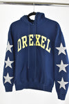 Upcycled Drexel University Star Rhinestone Sweatshirt