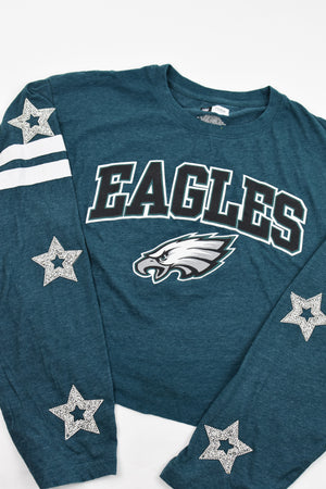 Upcycled Eagles Star Rhinestone Shirt