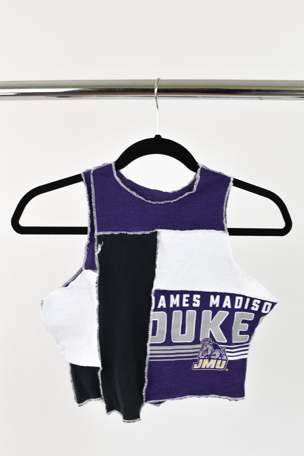 Upcycled James Madison University Scrappy Top