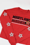 Upcycled Maryland Star Rhinestone Shirt