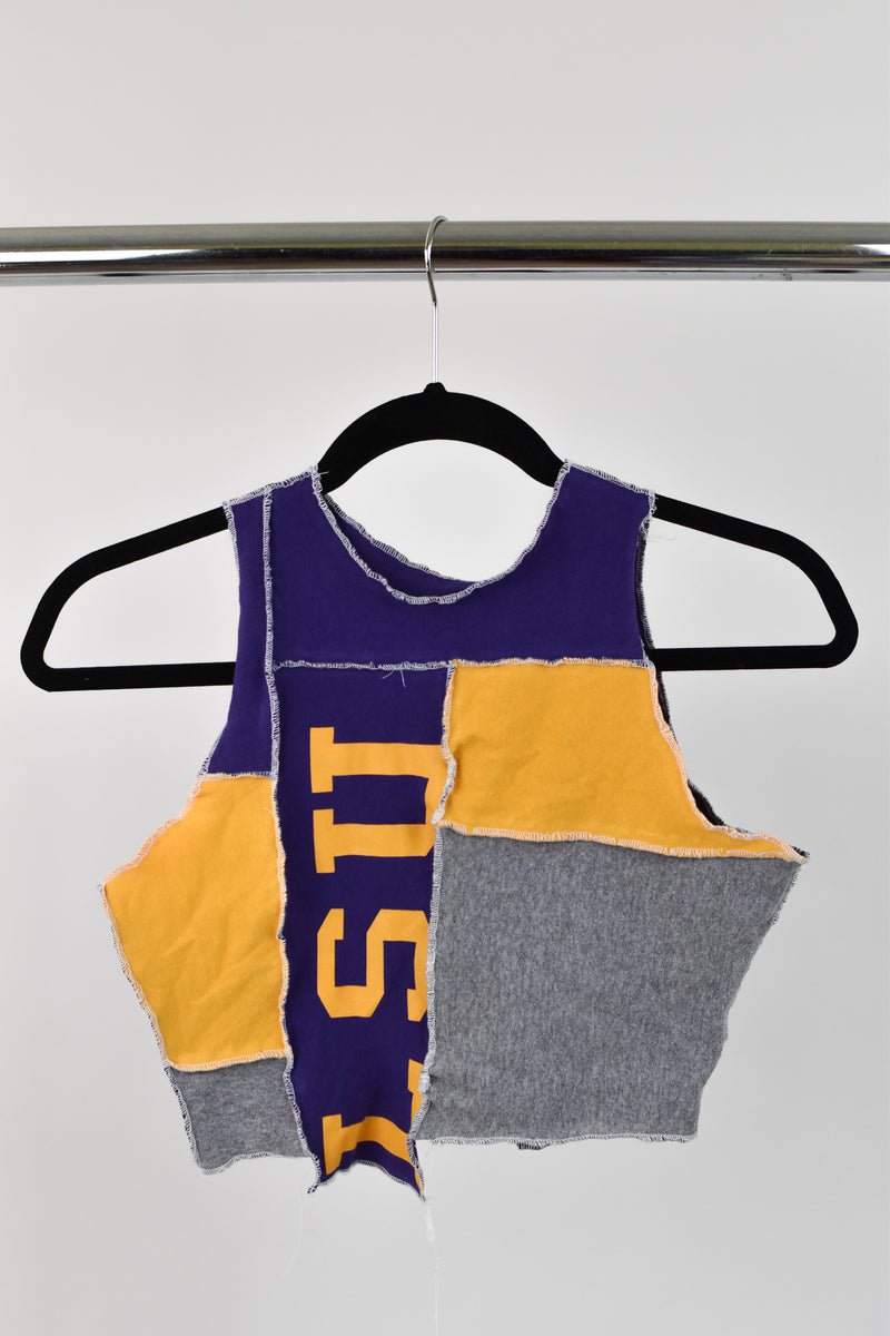 Upcycled LSU Scrappy Top