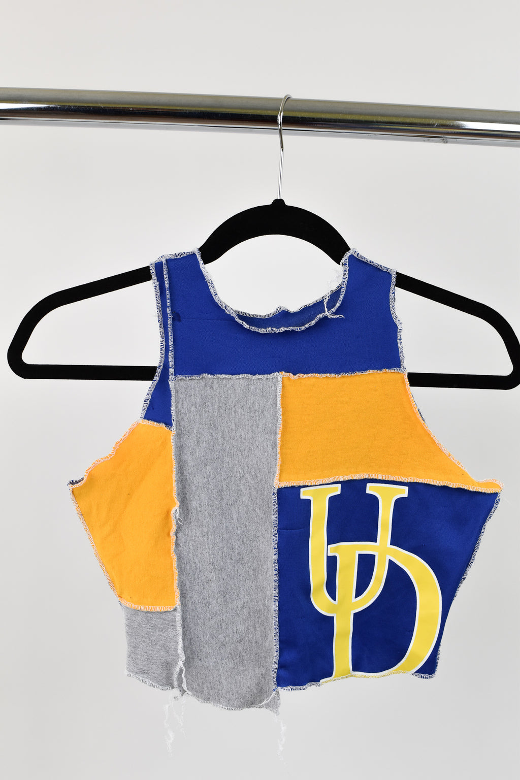 Upcycled University of Delaware Scrappy Top
