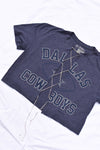 Upcycled Cowboys Rhinestone Chain Shirt