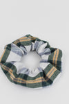 Green Flannel Scrunchie