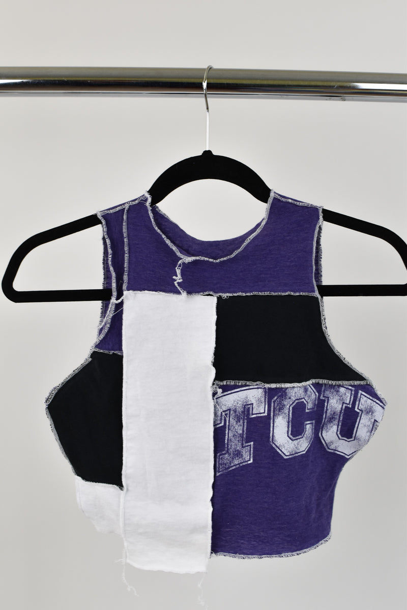 Upcycled TCU Scrappy Top
