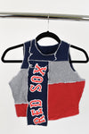 Upcycled Boston Red Sox Scrappy Top