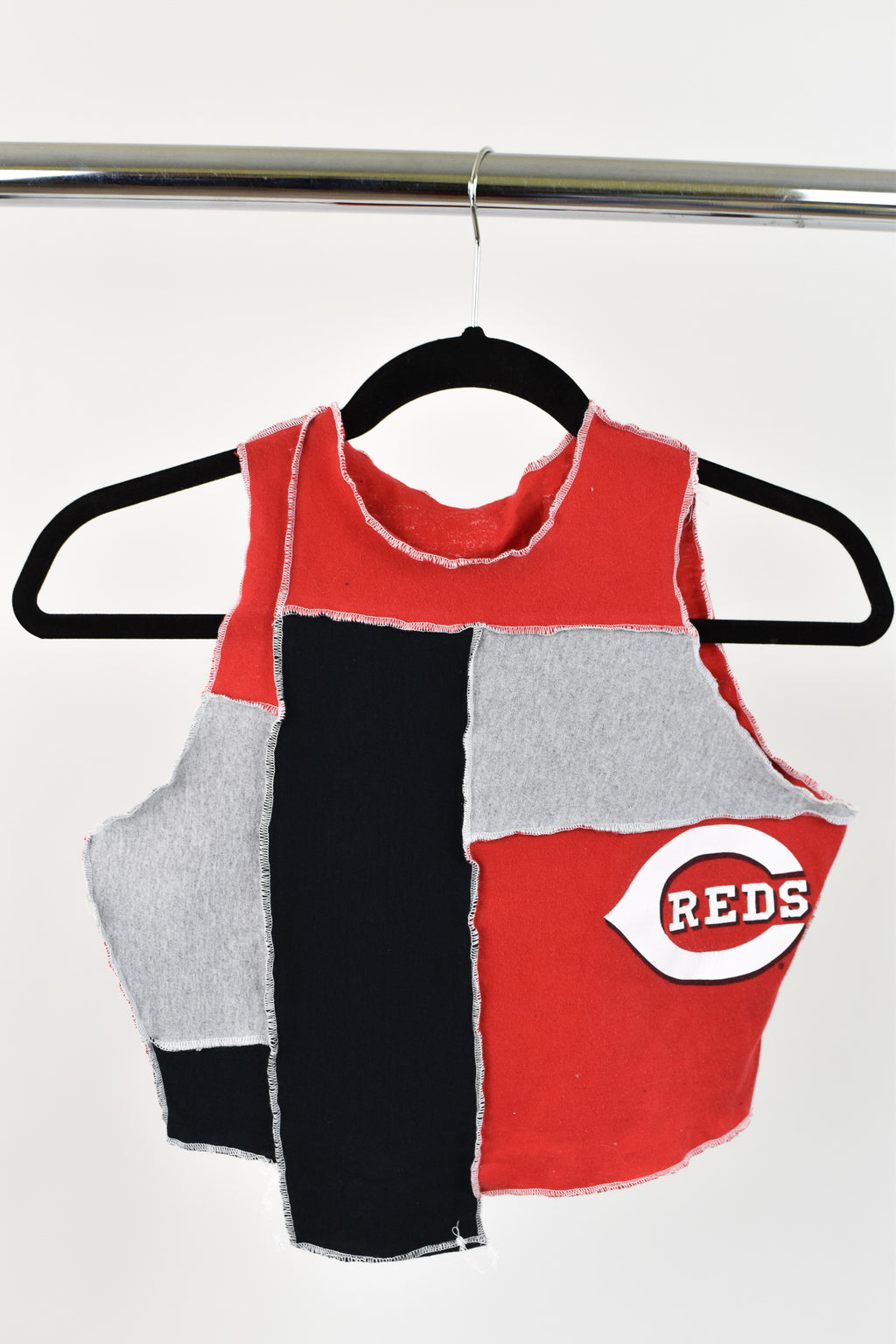 Upcycled Cincinnati Reds Scrappy Top
