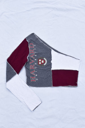 Blue Flannel and Denim Split Scrunchie