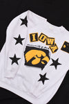 Upcycled VINTAGE Iowa Star Rhinestone Sweatshirt