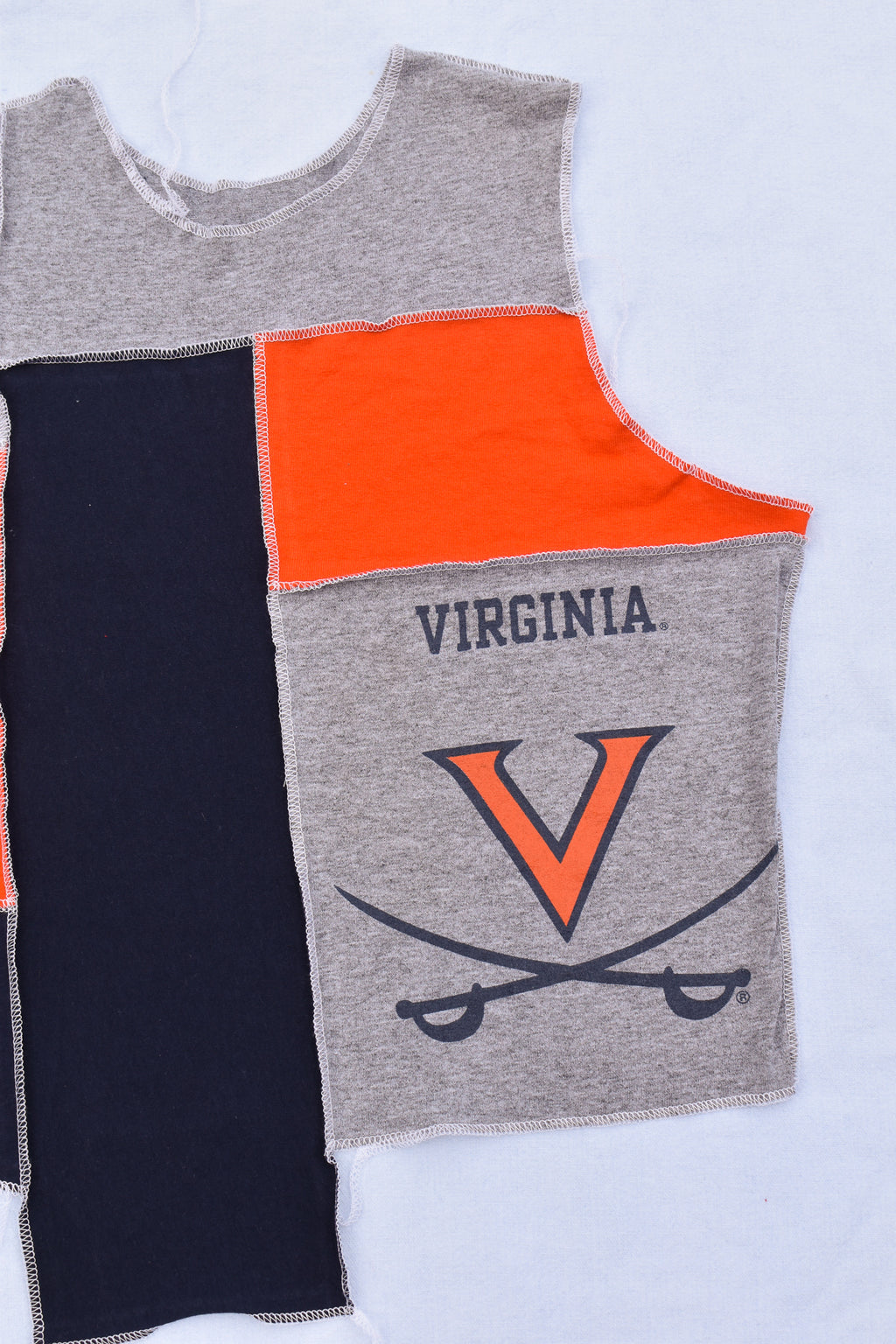 Upcycled Titans Distressed Flannel Sleeve Shirt