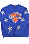 Upcycled VINTAGE New York Knicks Star Rhinestone Sweatshirt